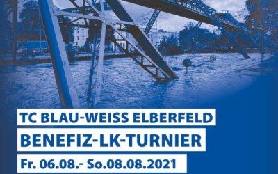 TC Blau-Weiss Elberfeld Benefizturnier für die Flutopfer Wir wollen helfen – und ihr könnt spielend dabei sein!